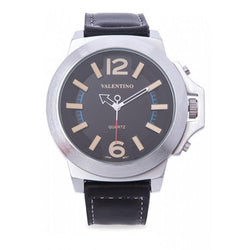 Valentino 20121947-KHAKI INDEX BLACK LEATHER STRAP Watch For Men