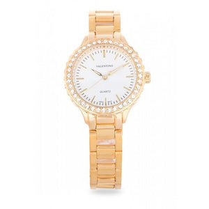 Valentino 20121959-GOLD - WHITE  DIAL GOLD STAINLESS BAND Watch For Women