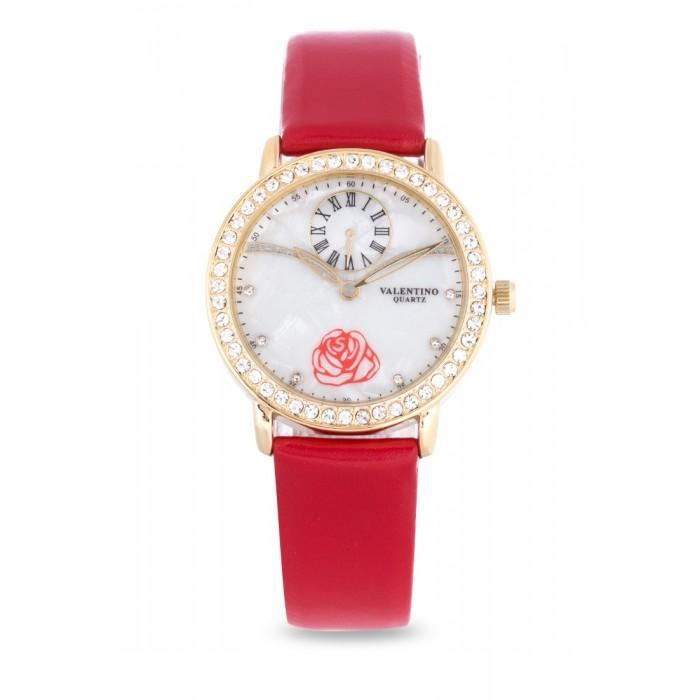 Valentino 20121964-RED - RED LEATHER STRAP Watch For Women