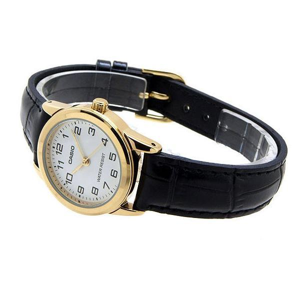 Casio LTP-V001GL-7B Black Leather Watch for Women - Watchportal Philippines