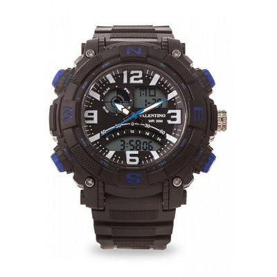 Valentino 20121889-BLUE NESW SPYDER DIGI ANA STYLE RUBBER STRAP Watch for Men