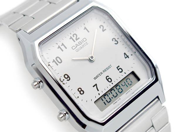 Casio Vintage AQ-230A-7B Silver Stainless Watch For Men and Women - Watchportal Philippines