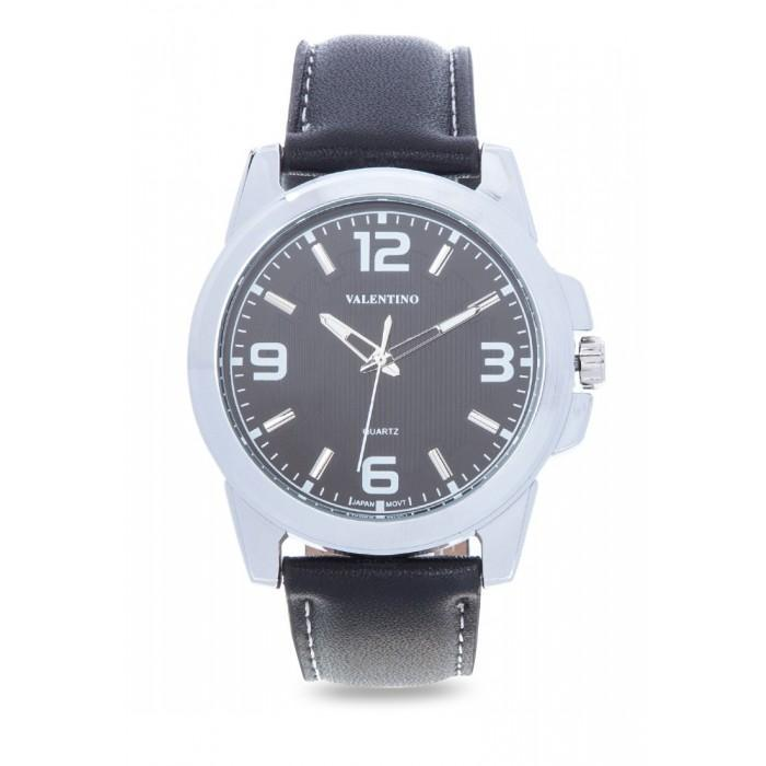 Valentino 20121950-BLACK LEATHER STRAP Watch For MEN