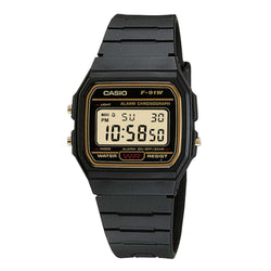Casio F-91WG-9QDF Black Resin Watch for Men and Women