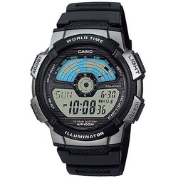 Casio AE-1100W-1A Black Resin Strap Watch For Men - Watchportal Philippines