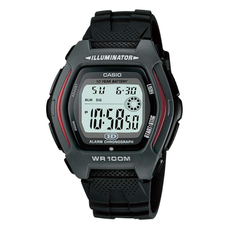 Casio Standard HDD-600-1A Black Resin Strap Watch for Men