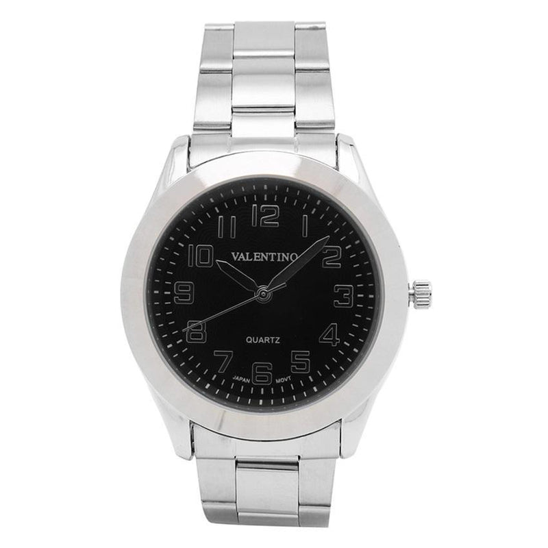 Valentino 20121113-BLACK DIAL STAINLESS BAND STRAP Watch for Men - Watchportal Philippines