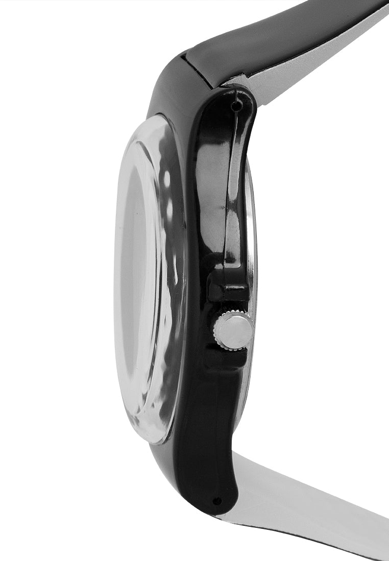 Valentino 20121131-Black Plastic Strap Watch For Men and Women