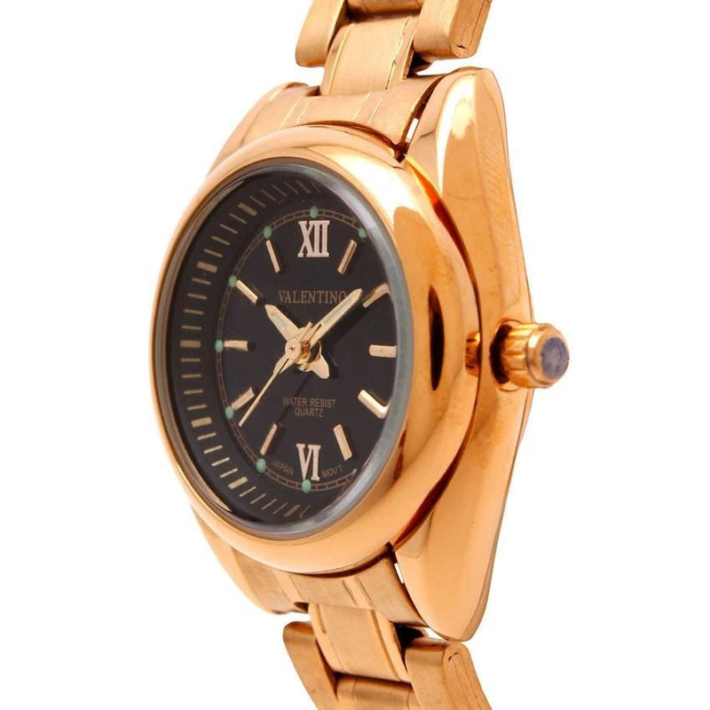 Valentino 20121683-GOLD - BLACK DIAL STAINLESS BAND STRAP Watch for Women - Watchportal Philippines
