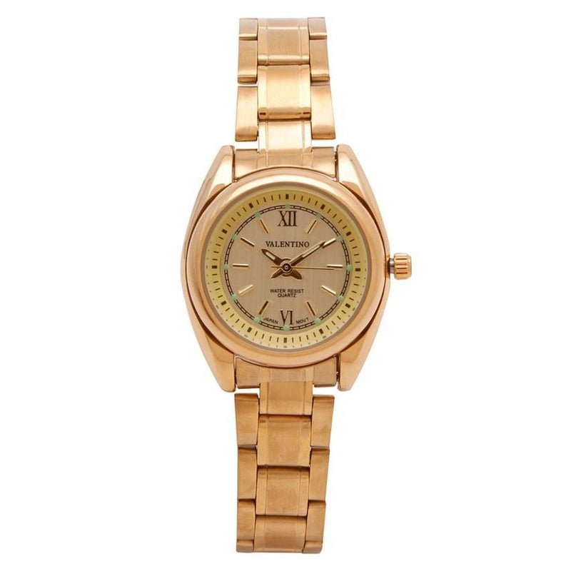 Valentino 20121683-GOLD - GOLD DIAL STAINLESS BAND STRAP Watch for Women - Watchportal Philippines