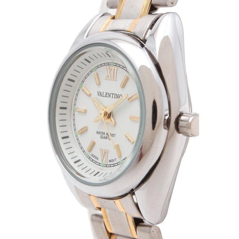 Valentino 20121683-TWO TONE - WHITE DIAL STAINLESS BAND STRAP Watch for Women - Watchportal Philippines