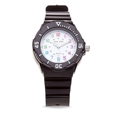 Valentino 20121727-BLACK - WHITE DIAL PLASTIC STRAP Watch for Women - Watchportal Philippines