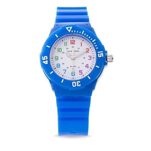 Valentino 20121727-Blue - Wht Dial Plastic Strap Watch For Women