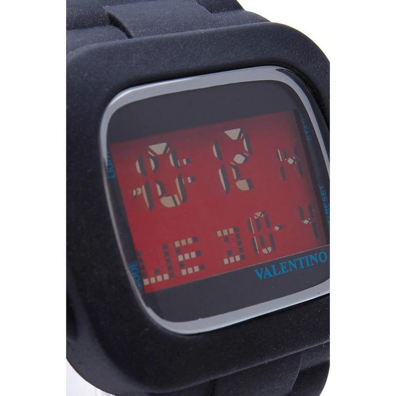 Valentino  20121738-BLACK UNISEX  RUBBER STRAP Watch for Men and Women - Watchportal Philippines