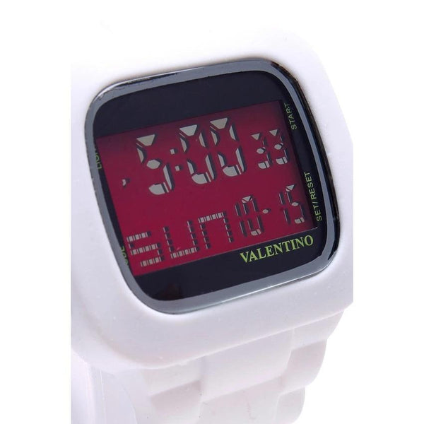 Valentino 20121738-WHITE RUBBER STRAP Watch for Men and Women - Watchportal Philippines