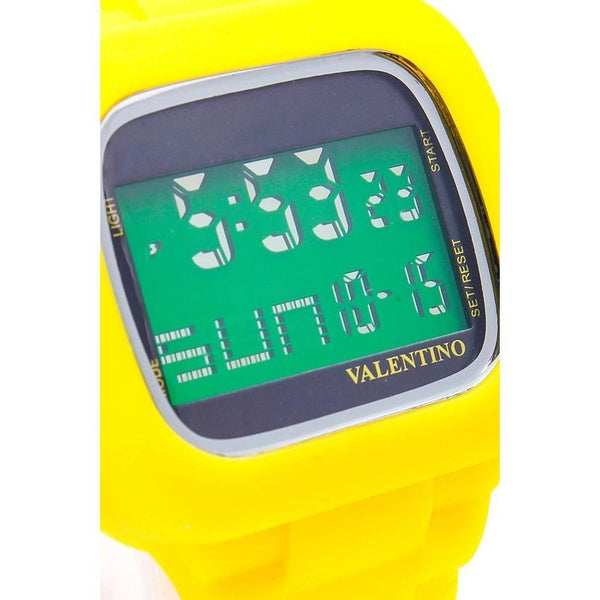 Valentino 20121738-YELLOW UNISEX RUBBER STRAP Watch for Men and Women - Watchportal Philippines