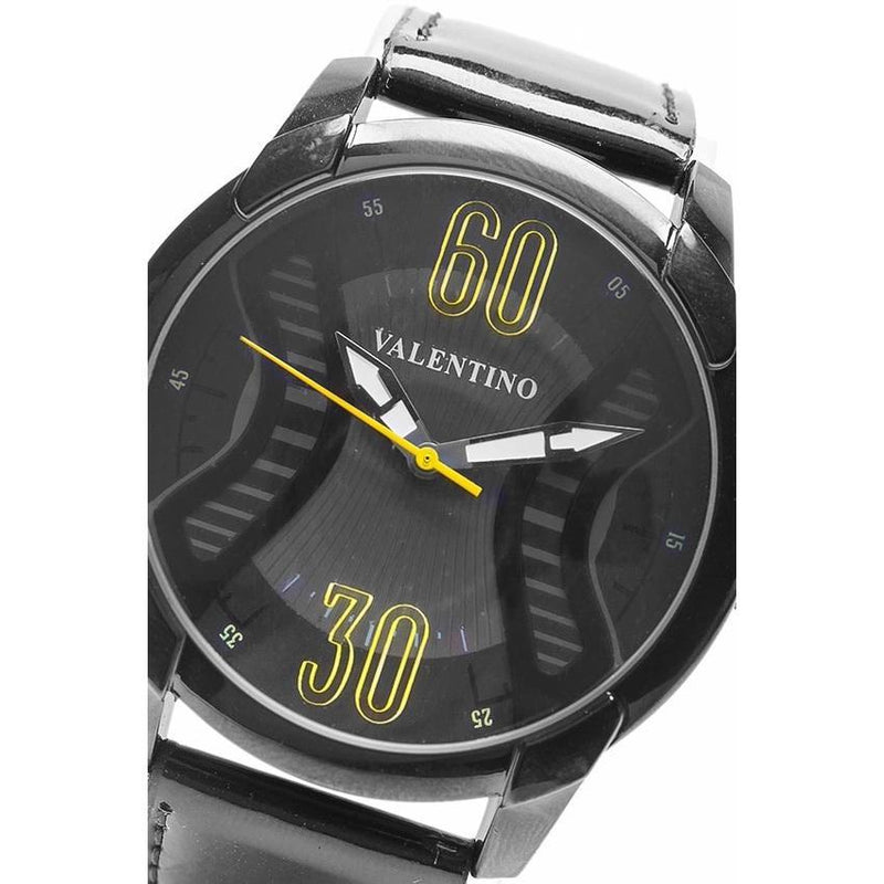 Valentino 20121759-BLACK BLK - BLACK DIAL GENUINE LEATHER STRAP Watch for Men - Watchportal Philippines