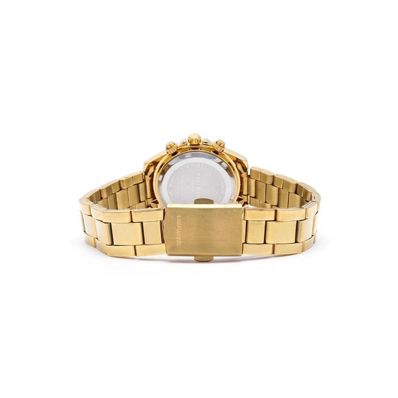 Valentino 20121808-GOLD - BLACK DIAL STAINLESS BAND STRAP Watch for Women - Watchportal Philippines