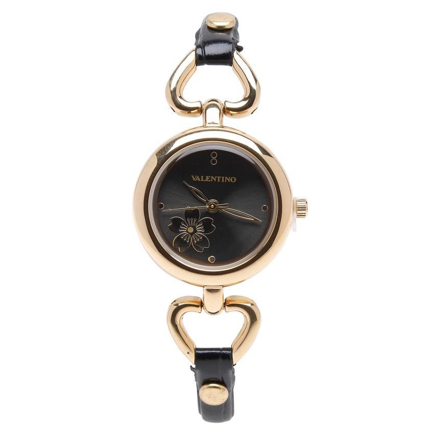 Valentino 20121826-BLACK GD - BLACK DIAL LEATHER STRAP Watch for Women - Watchportal Philippines