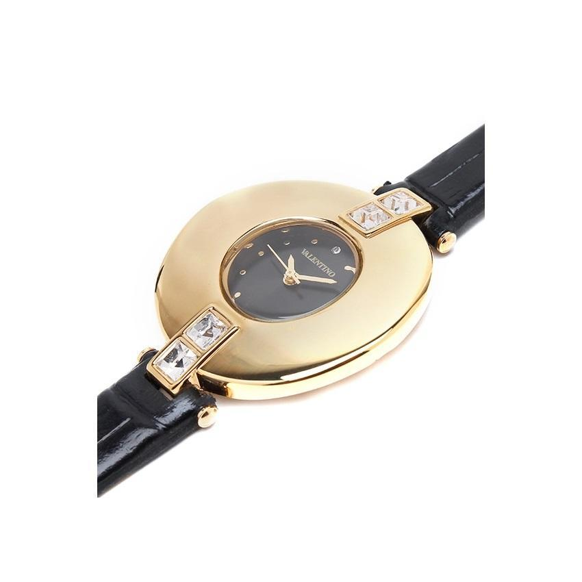 Valentino 20121829-BLACK GD - BLACK DIAL LEATHER STRAP Watch for Women - Watchportal Philippines