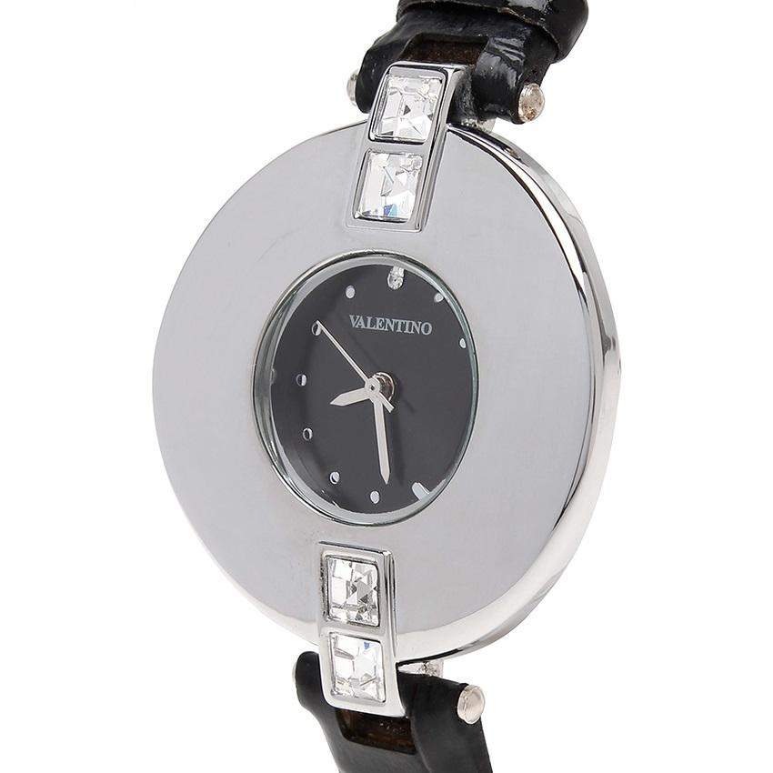 Valentino 20121829-BLACK SIL - BLACK DIAL LEATHER STRAP Watch for Women - Watchportal Philippines