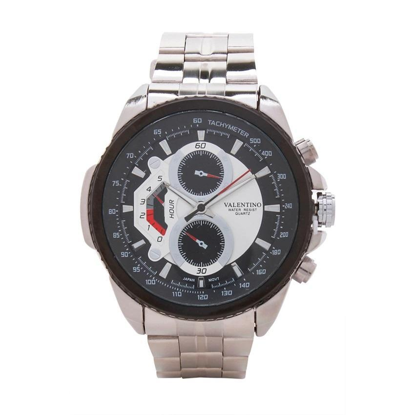 Valentino 20121833-BLACK DIAL STAINLESS BAND STRAP Watch for Men - Watchportal Philippines