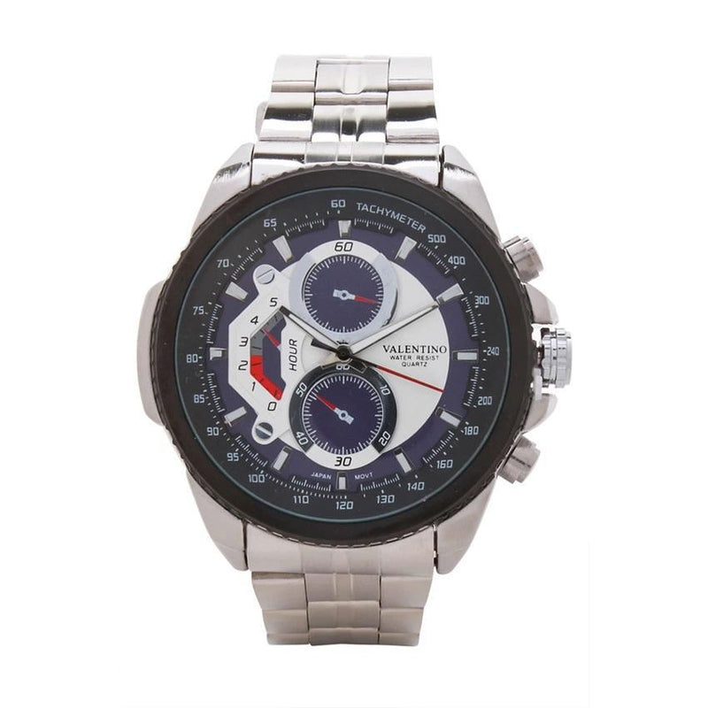 Valentino 20121833-BLUE DIAL STAINLESS BAND STRAP Watch for Men - Watchportal Philippines