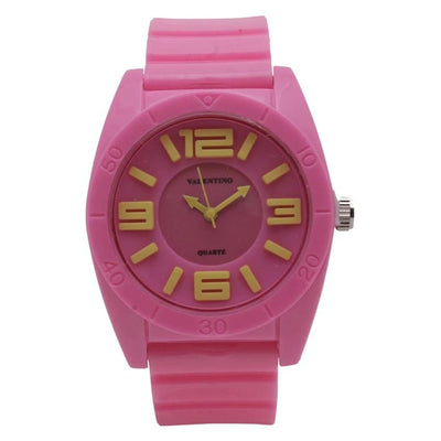 Valentino 20121844-PINK PLASTIC STRAP Watch for Men and Women