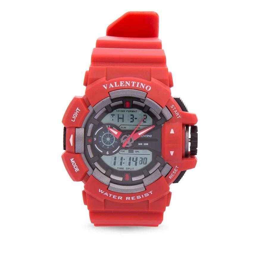 Valentino  20121886-RED RUBBER STRAP Watch for Men