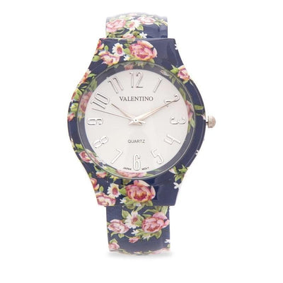 Valentino 20121887-BLUE FLOWER FASHION METAL - ALLOY STRAP Watch for Women