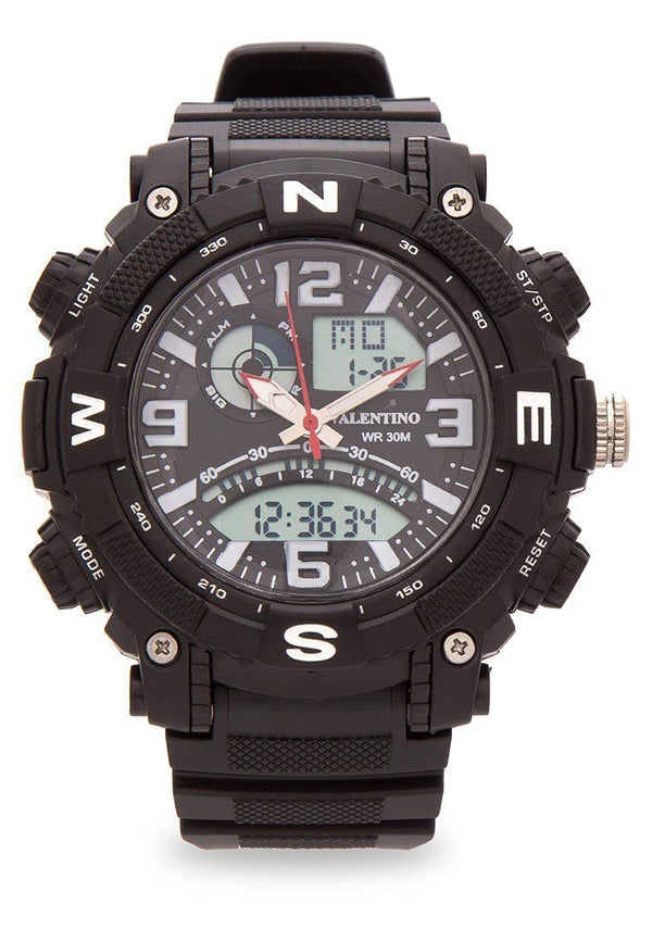 Valentino 20121889-WHITE NESW SPYDER DIGI ANA STYLE MEN RUBBER STRAP Watch for Men - Watchportal Philippines
