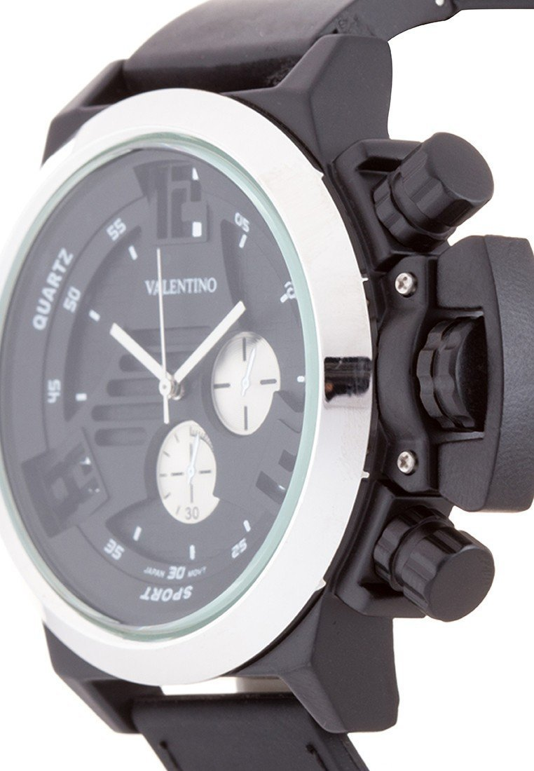 Valentino 20121896-SILVER BIG LEE STYLE MEN RUBBER STRAP Strap Watch for Men - Watchportal Philippines