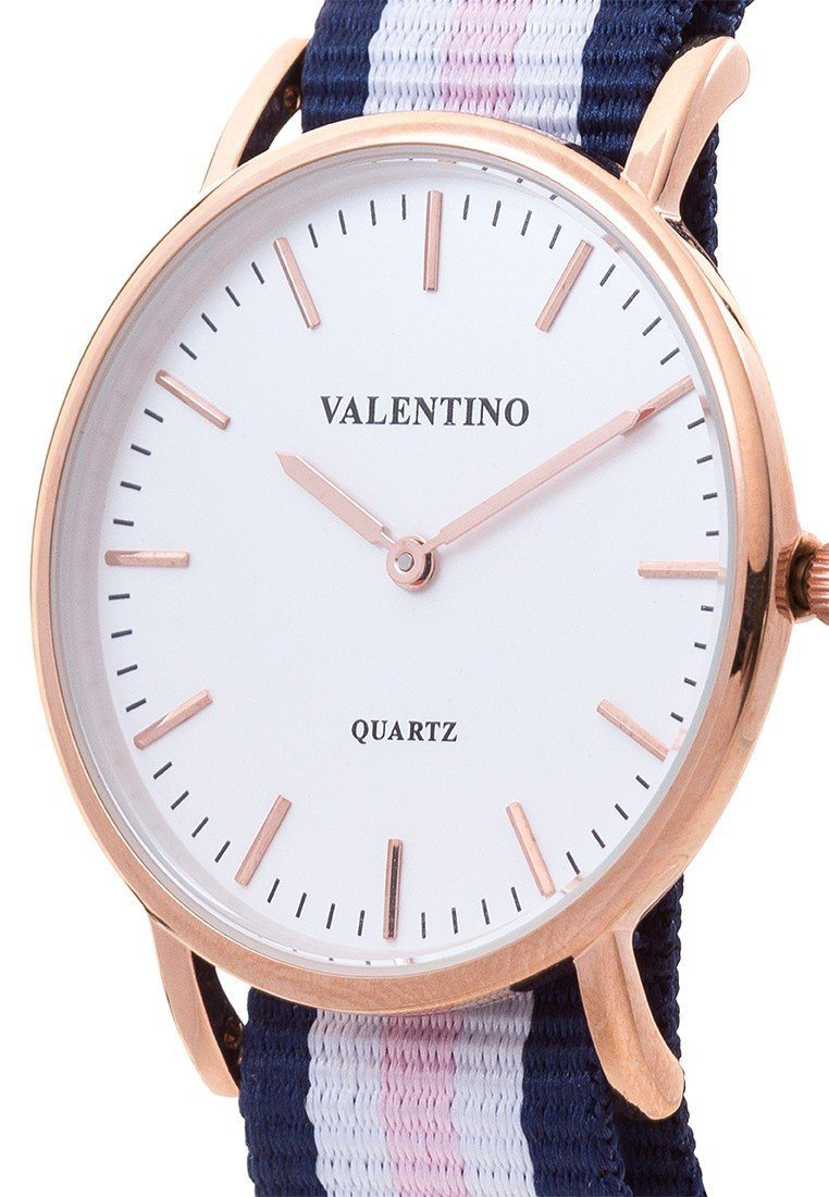 Valentino 20121902-DBLUE WHT PINK - LINE D WELLINGTON RG L NYLON STRAP Watch For Women - Watchportal Philippines