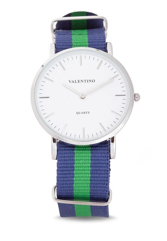 Valentino 20121903-DBLUE GREEN NYLON STRAP Watch For Men - Watchportal Philippines