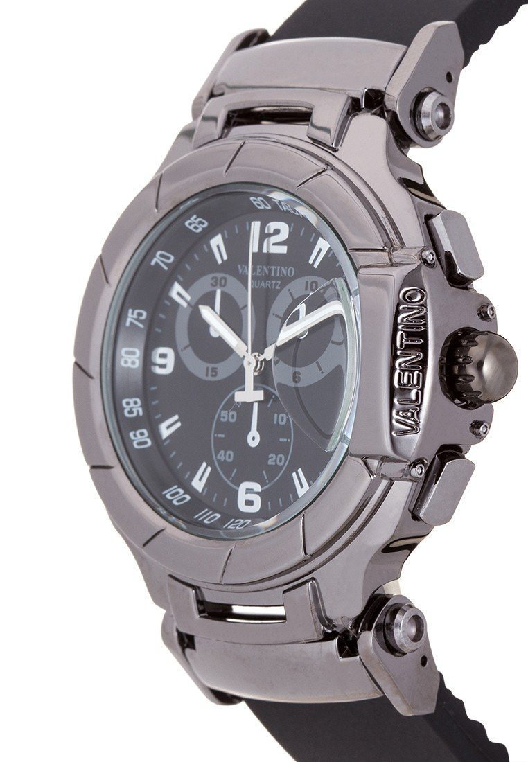 Valentino 20121910-BLK - BLACK DIAL TISSOT RUBBER STYLE STRAP Watch For Men - Watchportal Philippines
