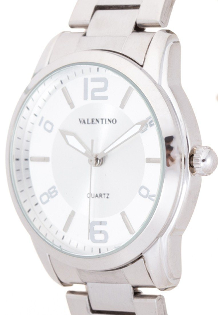 Valentino 20121911-WHITE DIAL SILVER INDEX STAINLESS BAND STRAP Watch For Men - Watchportal Philippines
