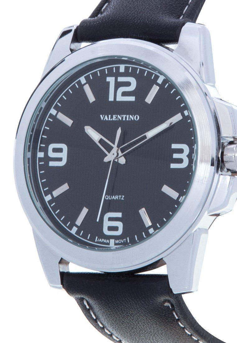 Valentino 20121950-BLACK LEATHER STRAP Watch For MEN - Watchportal Philippines