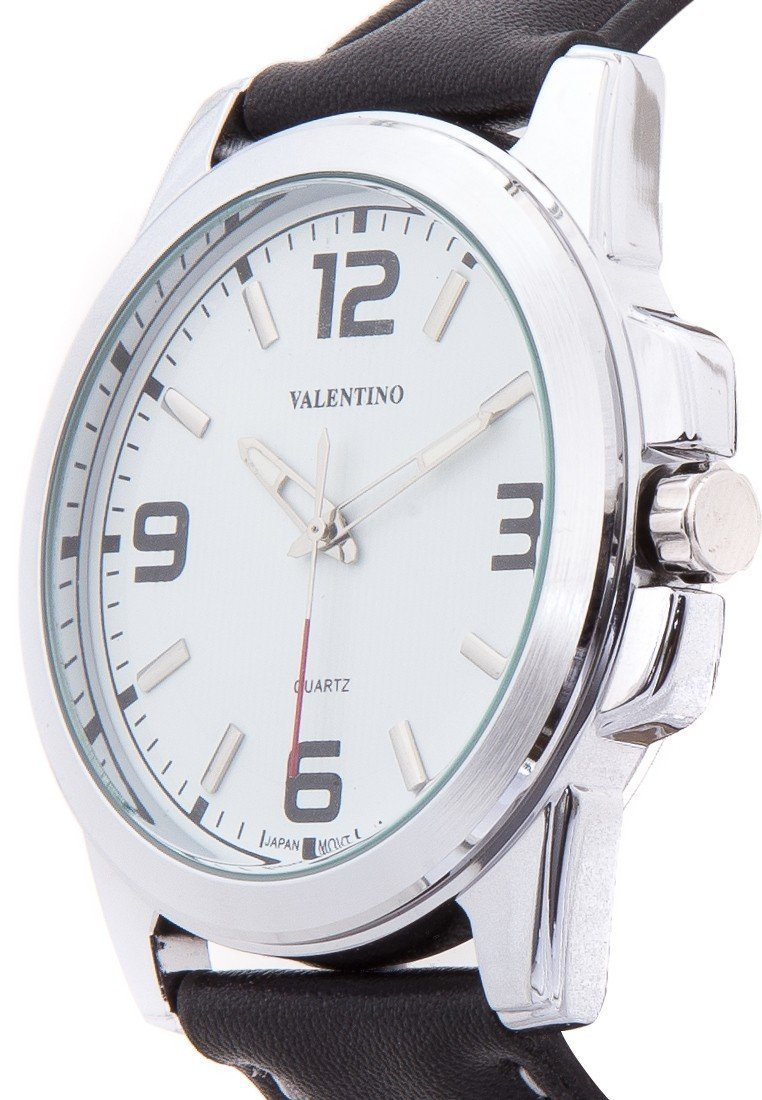 Valentino 20121950-WHITE BLACK LEATHER STRAP Watch For Men - Watchportal Philippines