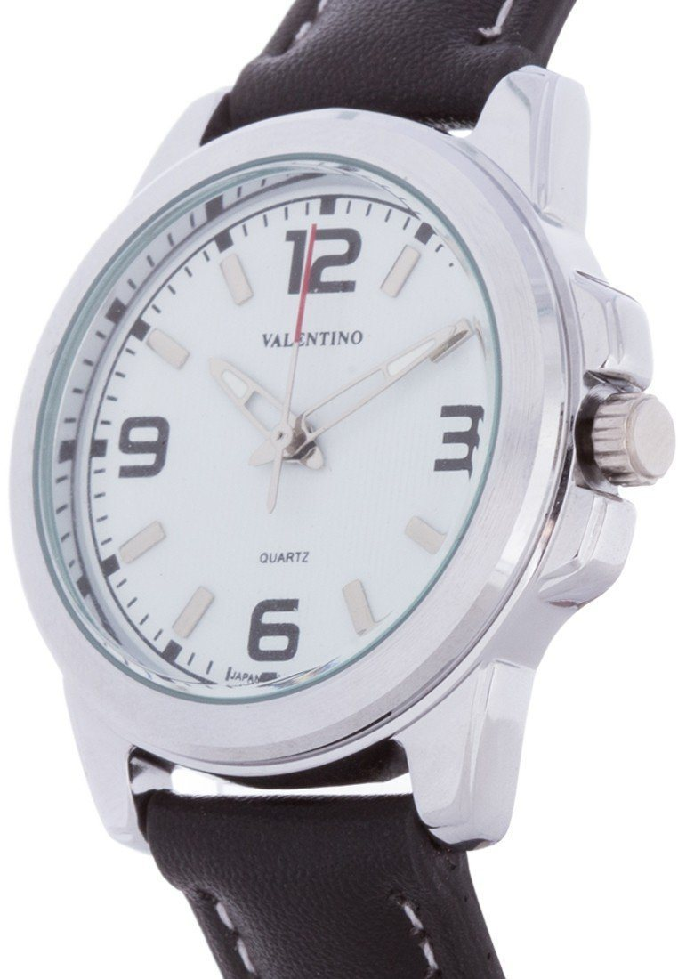 Valentino 20121951-WHITE BLACK LEATHER STRAP Watch For Women - Watchportal Philippines