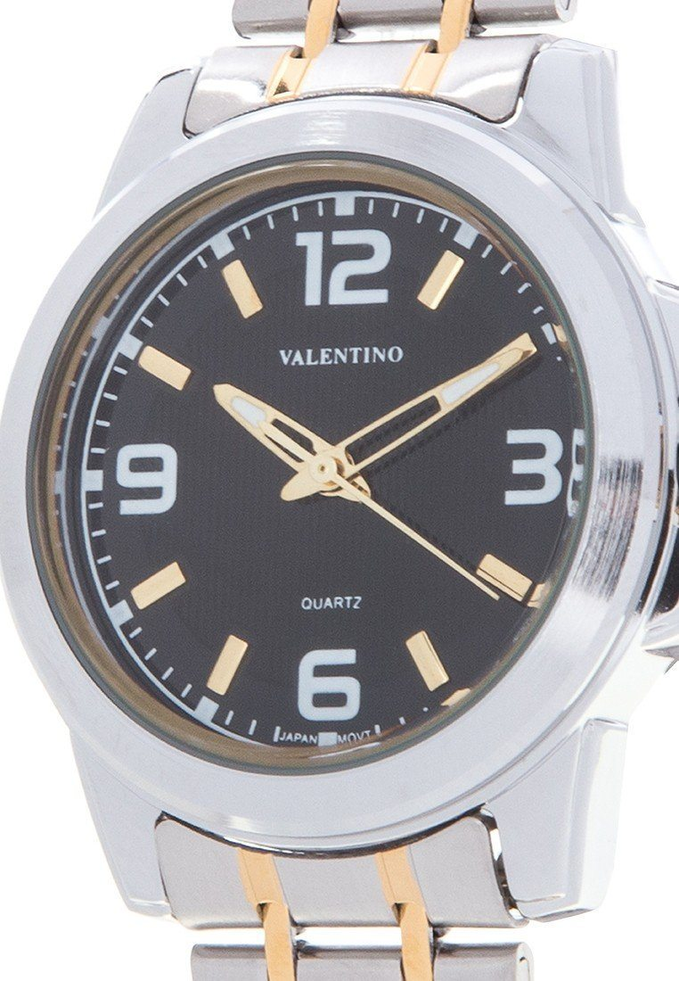 Valentino 20121953-TWO TONE - BLACK DIAL STAINLESS BAND Watch For Women - Watchportal Philippines