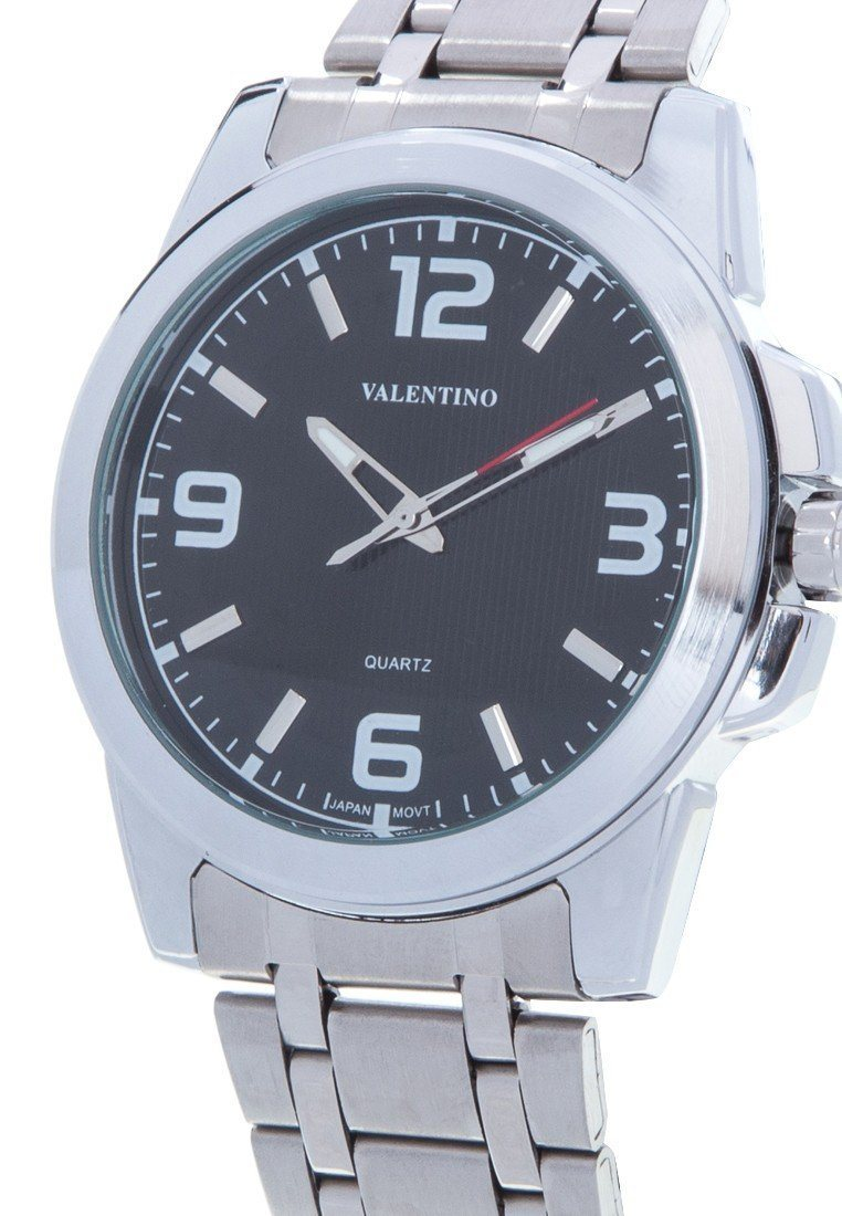 Valentino 20121954-BLACK SILVER STAINLESS BAND Watch For Men - Watchportal Philippines
