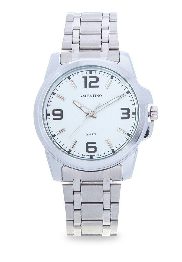 Valentino 20121954-WHITE SILVER STAINLESS BAND Watch For Men - Watchportal Philippines