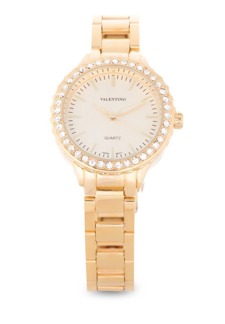 Valentino 20121959-GOLD - GOLD DIAL STAINLESS BAND Watch For Women - Watchportal Philippines