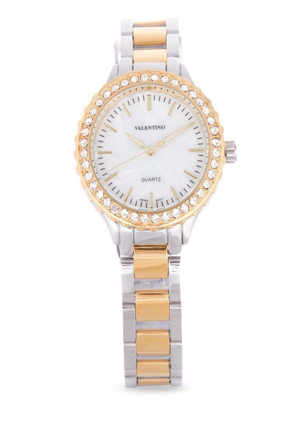 Valentino 20121959-TWO TONE - MOP DIAL STAINLESS BAND Watch For Women - Watchportal Philippines