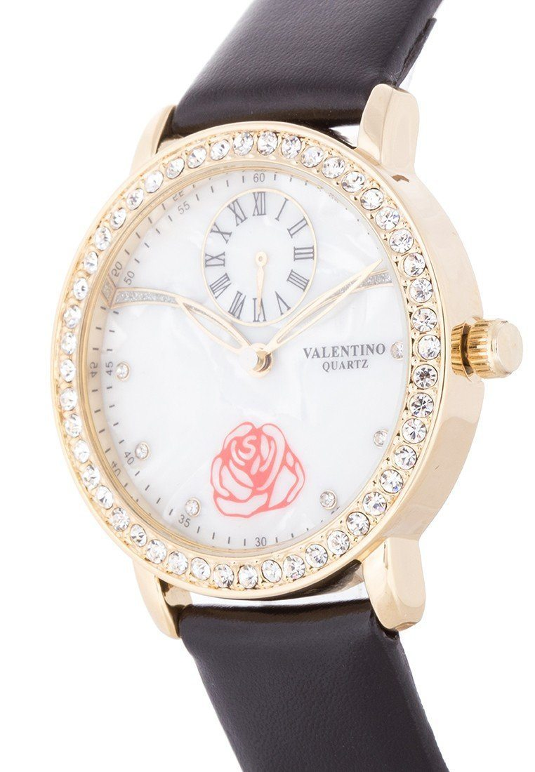 Valentino 20121964-BLACK - BLACK LEATHER STRAP Watch For Women - Watchportal Philippines