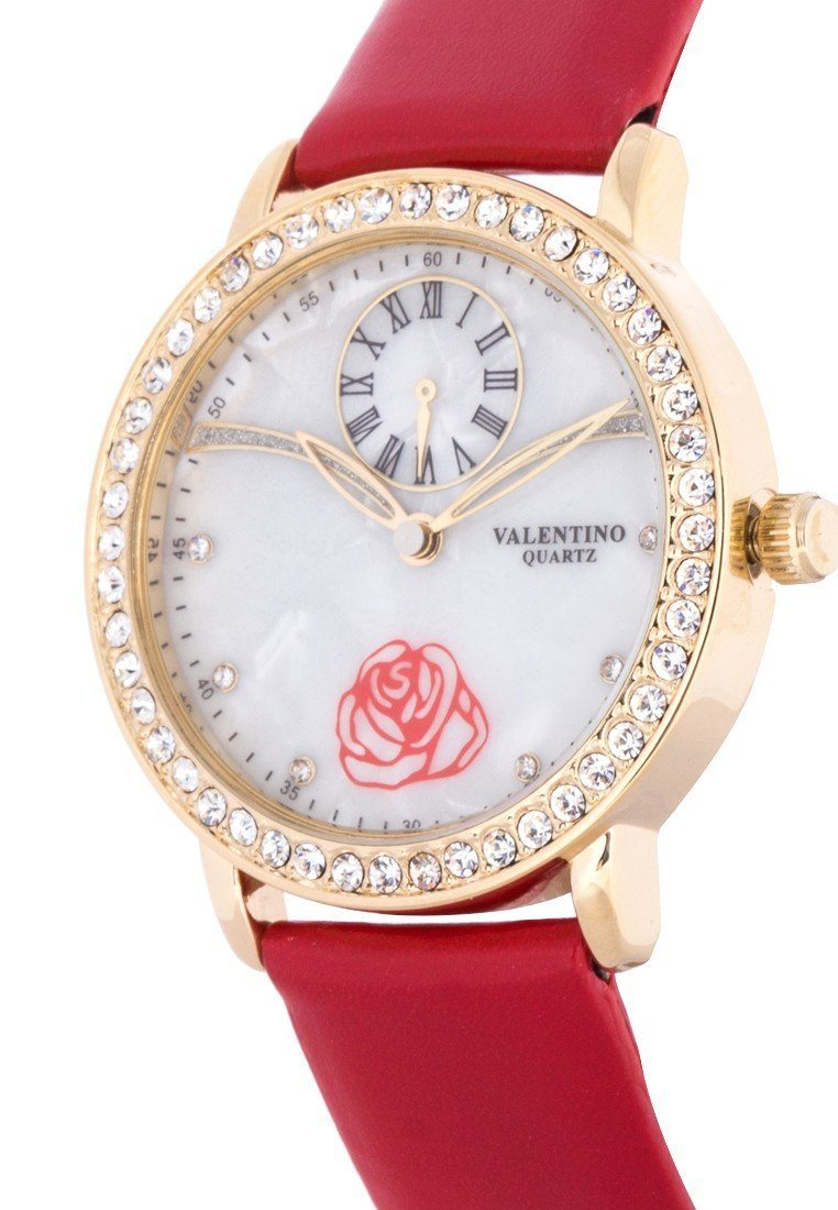 Valentino 20121964-RED - RED LEATHER STRAP Watch For Women - Watchportal Philippines