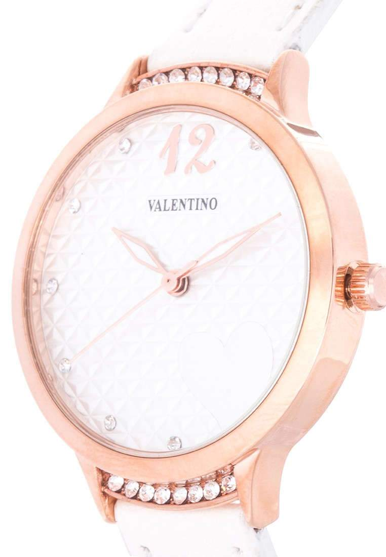 Valentino 20121966-WHITE - WHITE LEATHER STRAP Watch For Women - Watchportal Philippines