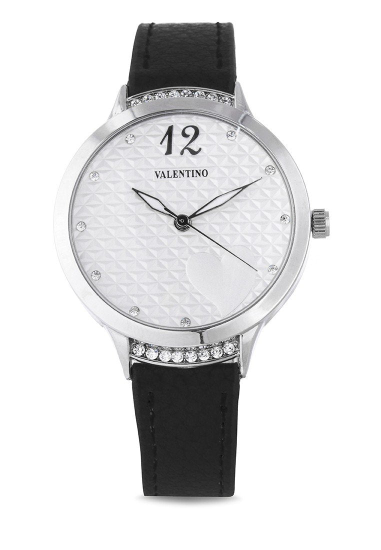 Valentino 20121967-BLACK - BLACK LEATHER STRAP Watch For Women - Watchportal Philippines
