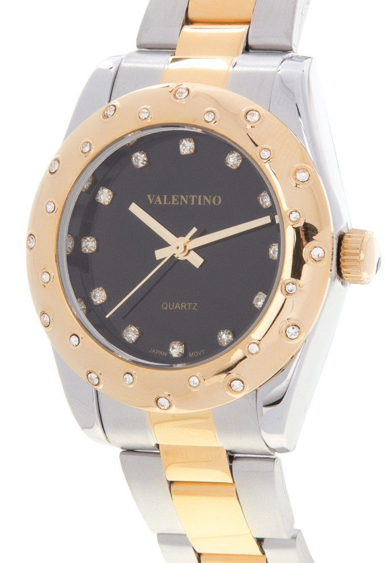 Valentino 20121973-TWO TONE - BLACK DIAL STAINLESS BAND Watch For Women - Watchportal Philippines