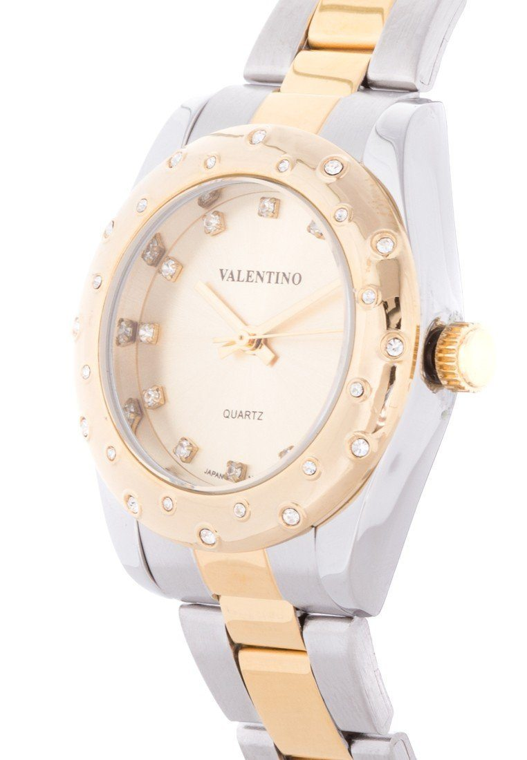 Valentino 20121973-TWO TONE - GOLD DIAL TWO TONE  STAINLESS BAND Watch For Women - Watchportal Philippines